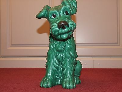Large Green Sylvac SylvaC Terrier Dog 1380 Original Made in England 11 inch tall