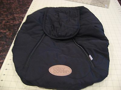 Cozy Cover - Infant Car Seat Cover (Black Quilt) GUC