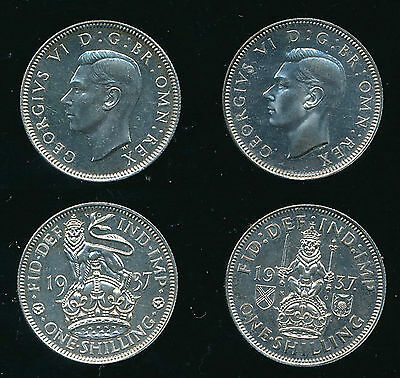 1937 George VI....Proof English/Scottish SHILLING..Straight From Set...Fast Post