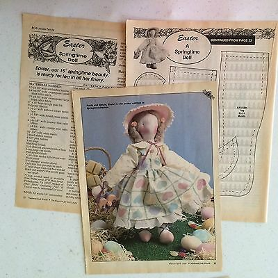 """""""Easter A Springtime Doll 15"""" Pattern (1989)"""
