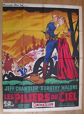 PILLARS OF THE SKY western chandler original french movie poster '56 LITHO