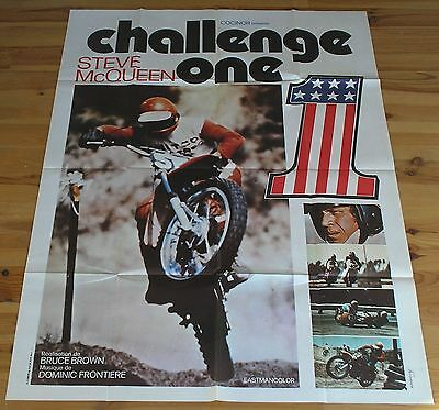 STEVE MCQUEEN on any sunday original french movie poster '71