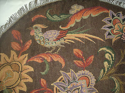 Antique VICTORIAN Finished Completed Birds Tapestry Needlepoint Petit Point
