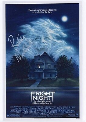 SIGNED FRIGHT NIGHT   MOVIE POSTER PRINT 12x8