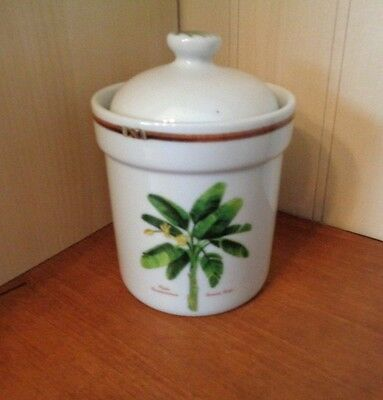 """Palm Island By Florida Marketplace 5.5"""" Tea Canister & Lid, Exc"""