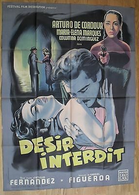 WHEN THE FOG LIFTS María Elena Marqués original french movie poster LITHO '56