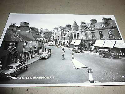 Vintage Postcard, High Street, Blairgowrie, Shops, Photographic, J.b. White Card