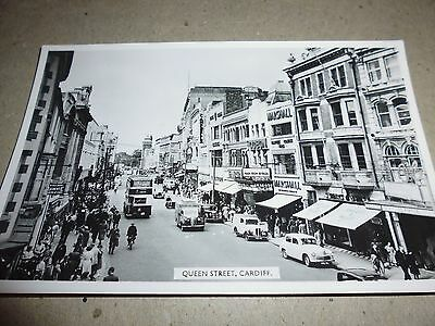 Vintage Postcard, Queen Street, Cardiff, Photographic, By H. Tempest, Odeon