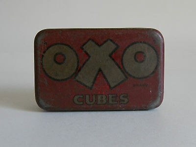 Vintage 1930s Small OXO Tin (6-Cubes). Kitchen Display. VGC Needs Cleaning