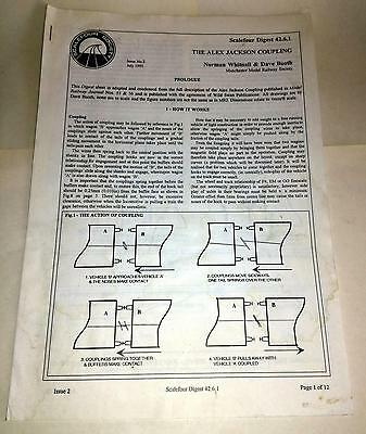 Scalefour Society Digest 42.6.1 Alex Jackson Coupling. 12 Page Manual.