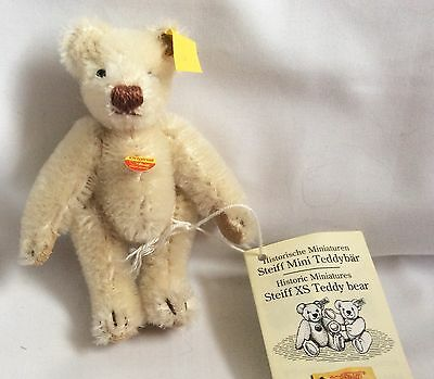 Steiff Historic Miniatures Collection 10cm White Jointed Teddy Bear
