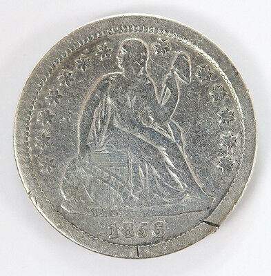 1856 P Seated Liberty Dime Small Date Stars - F #01318044g