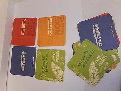 Beer mat coasters, Outback Steakhouse, Lot of 14