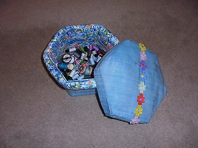 Sewing box - Sewing Box Craft Box - lot of cottons