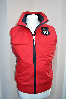 KINGSLAND COLLECTION unisex red anorak style gilet jacket - XS chest 36""