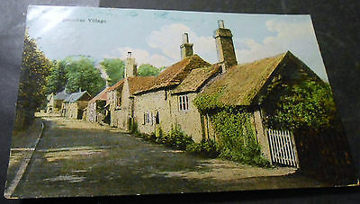old colored PPC BRAMBER Village - Horsham - West Sussex - used 1907