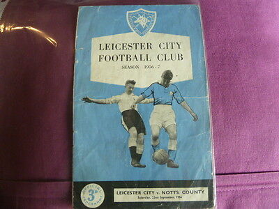 22/9/1956 Leicester V Notts County