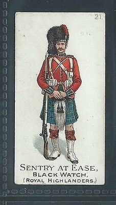 Gallaher Types Of The British Army 3 Pipe Brown No 21 Black Watch Sentry At Ease