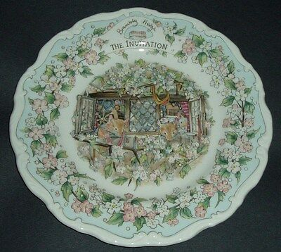 Brambly Hedge - Royal Doulton - The Invitation -  Plate 8""