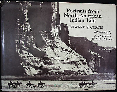Portraits from North American Indian Life by Edward S Curtis, Hardcover w/ PHOTO
