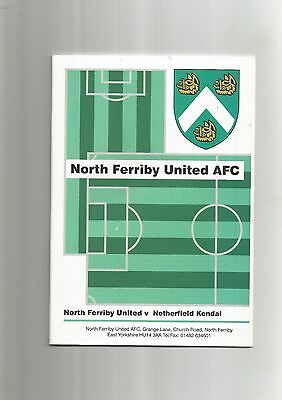 F A Cup Qualifying Rd North Ferriby v Netherfield Kendal 1999