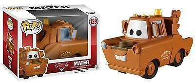 "Funko Pop Disney Pixar Cars: Mater 3.75"" Vinyl Action Figure Collectible Toy 129"
