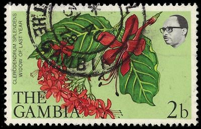 """GAMBIA 354 (SG371) - """"Clerodendrum splendens"""" Flowers (pa79078)"""