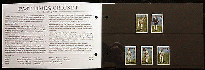 Gb Alderney 1997 Presentation Pack Cricket Set 5 Fv £1.86