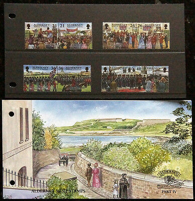 Gb Alderney 2000 Presentation Pack Garrison Island Events Set 8 Fv £2.46