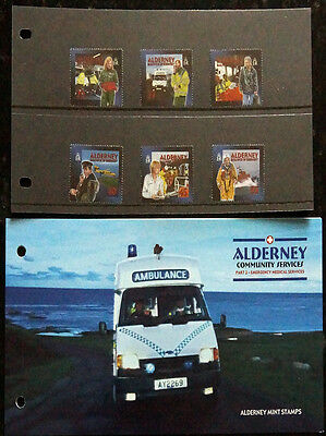 Gb Alderney 2002 Presentation Pack Emergency Medical Aid Set 6 Fv £2.35