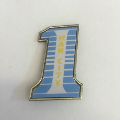 Manchester City  LARGE No.1  FOOTBALL INSERT METAL BADGE