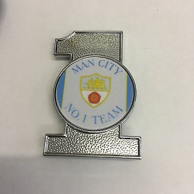 Manchester City  No.1. TEAM INSERT METAL FOOTBALL BADGE