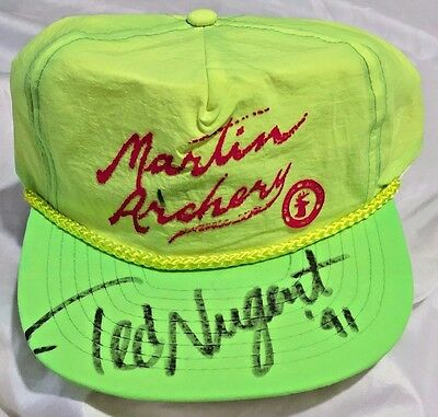 Martin Archery & TED NUGENT 1991 Ball Cap AUTOGRAPHED