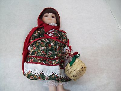 "Royalton Collection Lil' Red Riding Hood 10"" Bisque Porcelain Hand-Painted Doll"