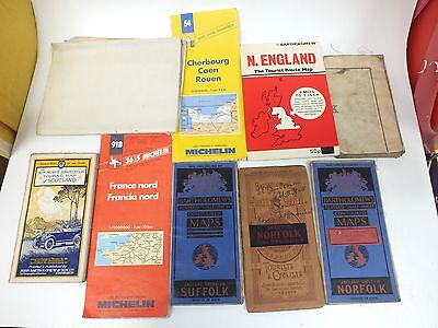 Vintage Mixed Collection Of MAPS Including 4 BARTHOLOMEW'S Maps - H10