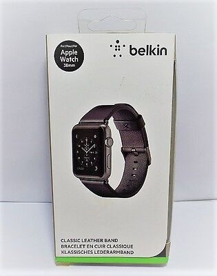 Belkin Classic Leather Band for Apple Watch 38mm - Black