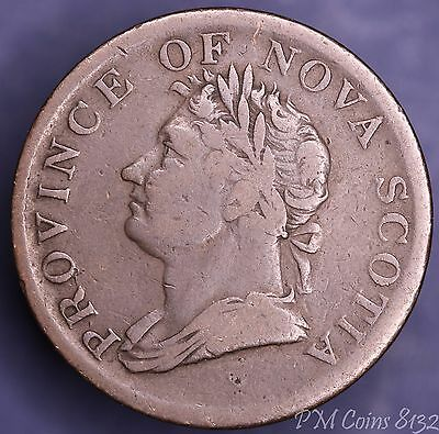 1832 William IV Nova Scotia Half Penny token Canada Canadian [8132]