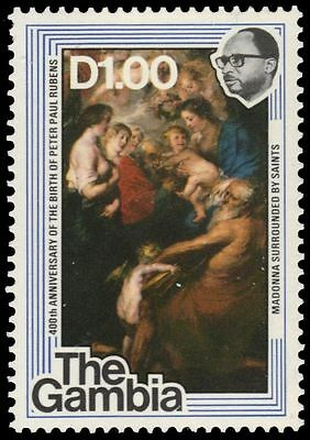 """GAMBIA 374 (SG391) - """"Madonna Surrounded by Saints"""" by Reubens (pf40872)"""