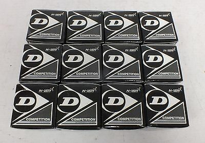 DUNLOP COMPETITION Set of 12 Squash Balls WSF-PSA-WSA NEW - Y99