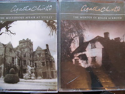 story books audio cassette.s.;  AGATHA CHRISTIE.. 2  titles as shown in photo