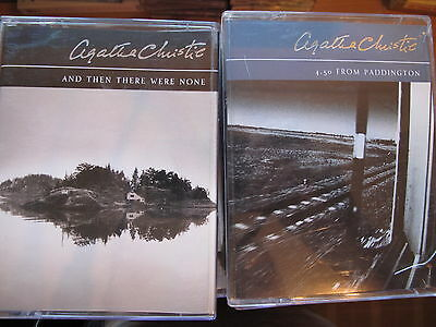 story books audio cassette.s.;  AGATHA CHRISTIE.. two  titles as shown in photo