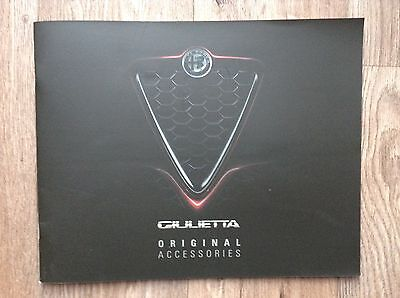 NEW Facelift ALFA ROMEO GIULIETTA Accessories Brochure - 2016