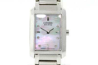 Ladies Citizen EX1070-50D Eco-Drive Palidoro Stainless MOP Dial Diamond Watch