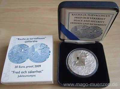 Finland 20 Euro 2009 Peace & Security 1 Oz Silver Proof