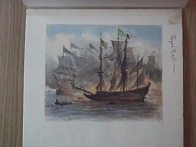 Shakespeare. Ladybird Book Original Art Work. Roger Hall.spanish Armada.drake.