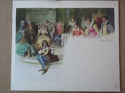 Shakespeare. Ladybird Book Original Art Work. Roger Hall. Royal Court. Music
