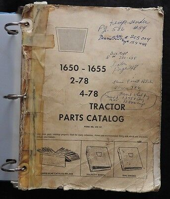 Genuine 1971 Oliver 1650 1655 White 2-78 4-78 Tractor Parts Catalog Manual Good