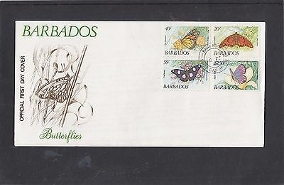 Barbados 1984 Butterflies FDC First Day Cover Barbados fdi h/s