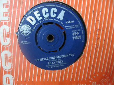 """Billy Fury 1961 """" I'd Never Find Another You """" Decca F 11409"""