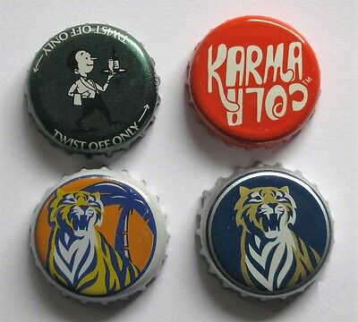 New Zealand Tiger Willie Waiter Waikato Draught Beer Karma Cola Lager Ale Caps